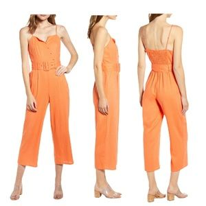 NWT Anthro Moon River Belted Crop Jumpsuit Medium